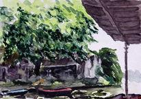 Realismus, Wasser, Architektur, Malerei