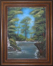 Wasser, Baum, Fluss, Frühling