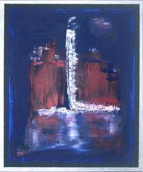 Industrie, Schnee, Blau, Malerei