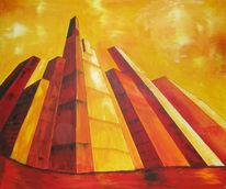 Rot, Froschperspektive, Gelb, Hochhaus