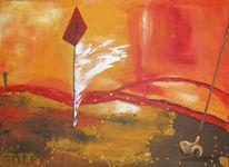 Schnee, Gold, Golf, Malerei