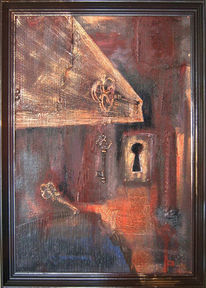 Tür, Rost, Schlüssel, Schlüsselloch
