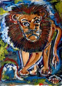Kaffeemalerei, Tiere, Malerei, König