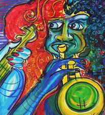 Jazz, Trompeter, Musiker, Malerei