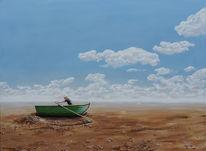Ruderboot, Etappenrennen, Boot, Malerei