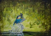 Acrylmalerei, Natur, Guggart, Taucher