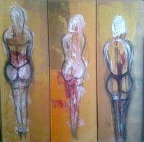 Tryptichon, Modern, Acrylmalerei, Malerei