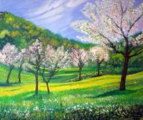 Frühling, Wiedbachtal, Malerei,