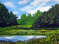 Westerwald, Teich, Sommer, Malerei