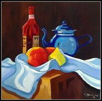 Stillleben, Ölmalerei, Malerei, Kanne