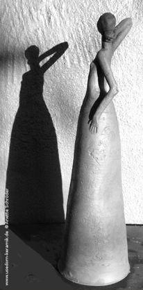 Figur, Frau, Gartenplastik, Keramikfigur