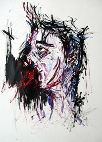 Zeichnungen, Abstrakt, Wolf, Menschen