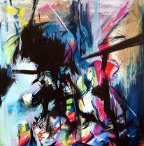 Überreiz, Reizflut, Malerei, 2012
