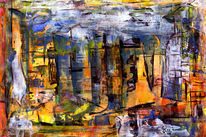 Licht, Gelb, Fantasie, Malerei