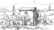 Landhaus, Frankreich, Häuschen, Steinhaus