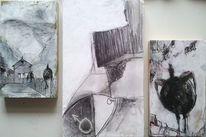 Nebel, Schwarz weiß, Fliege, Halbvogel