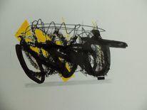 Abstrakt, Grau, Expressionismus, Schwarz