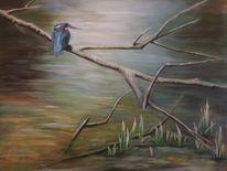 Wasser, Eisvogel, Baum, Handarbeit