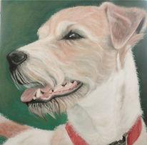 Hundeportrait, Pinsel, Ölmalerei, Tierportrait