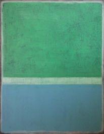 Grün, Ölmalerei, Blau, Farbfeldmalerei