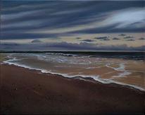 Gischt, Sand, Wolken, Grog