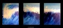 Abstrakt, Surreal, Acrylmalerei, Blau