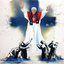 Malerei, Real, Figural, Papst