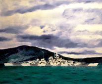 Morleys, Schlachtschiff, Malerei,