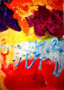 Tod, Abstrakt, Wolf, Malerei