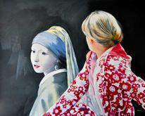 Jan vermeer, Mädchen mit perlenohrring, Jahrhundert, Gerhard richter