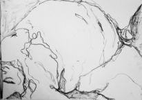 Linie, Volumen, Körperlandschaft, Zeichnungen