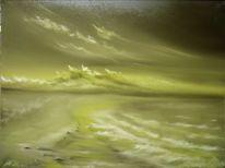 Meeresstrand, Ölmalerei, Malerei, Traum