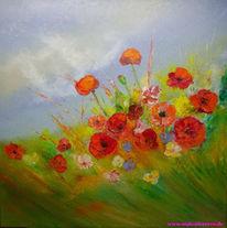Mohnblumen, Ölmalerei, Malerei