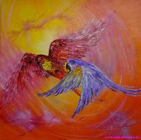 Papagei, Ölmalerei, Malerei, Figural