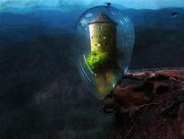 Burg, Glas, Turm, Mystik