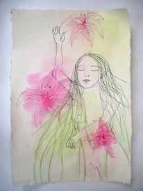 Malerei, Figural, Lilien