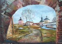 Bäuerlich, Vintage, Kirche, Malerei