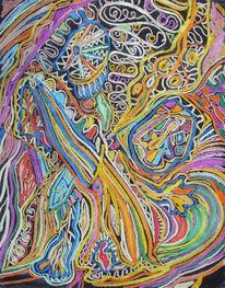 Unterwasser, Abstrakt, Mixed, Pastellmalerei