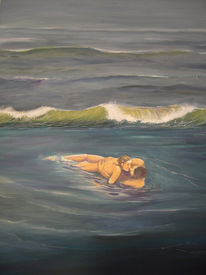 Acrylmalerei, Meer, Nordsee, Welle