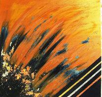 Metall, Abstrakt, Malerei, Ausbruch