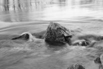 Stein, Wasser, Rauschen, Welle