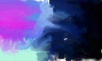 Grün, Abstrakt, Blau, Pink