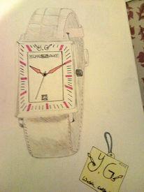 Uhr, Kollektion, Zeichnungen,