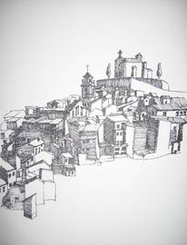 Cuadro, Tuschmalerei, Fatarella, Zeichnungen