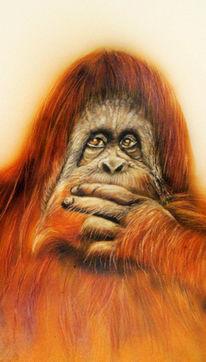 Airbrush, Tiere, Affe, Malerei