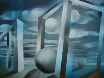 Malerei, Abstrakt, Raum