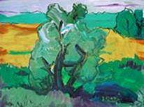 Künstlersiedlung, Haus, Baum, Lang