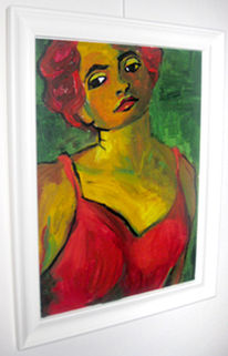 Portrait, Gesicht, Lang, Frau