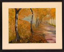 Südharz, Aquarellmalerei, Baum, Mansfeld
