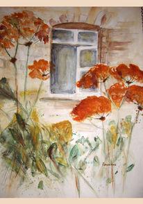 Gras, Malschule, Mansfeld, Fenster